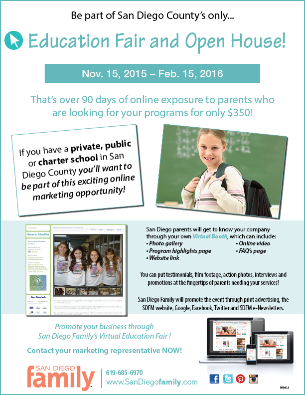 Be exposed to parents who are looking for educational programs!