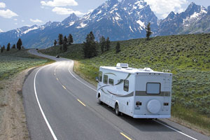 Camping and touring in a RV