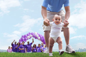 Families march together to save babies