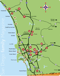 San Diego Family Magazine: 2012 Map of Christmas Lights