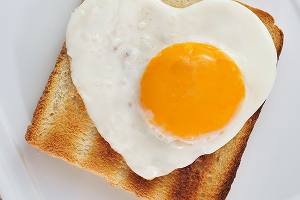 Yummy breakfast idea of toast and egg.