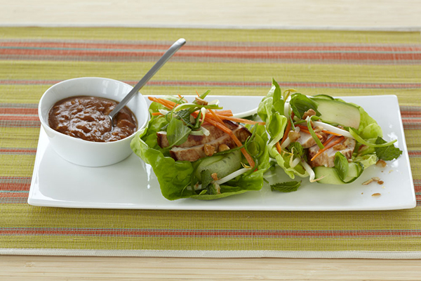 Here is a way to celebrate Chinese New Year with lettuce wraps.