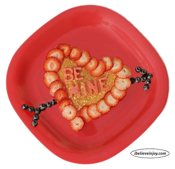 Here is a delicious Valentine pancake!