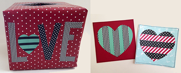 Make this Valentine's day card box.