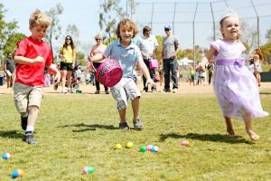 65+ Easter egg hunts, bunny visits, crafts, brunches, worship servics and other HOPpenings!