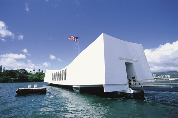 The USS Arizona Memorial at Pearl Harbor is a must see