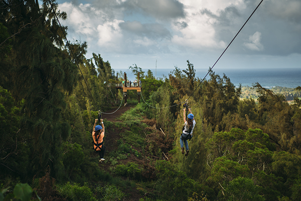 Zipline in Hawaii