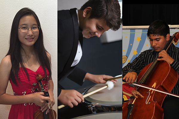 Three San Diego kids that are involved in music programs.