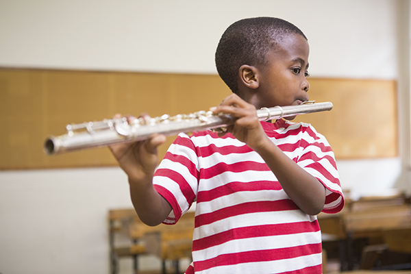 Children can use music to balance and enhance there school curriculum.