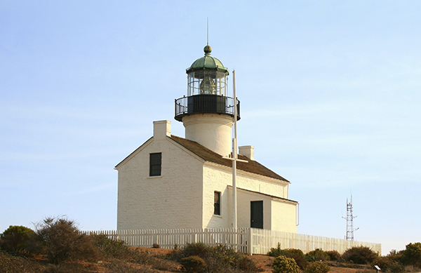 The lighthouse at Point loma in San Diego.