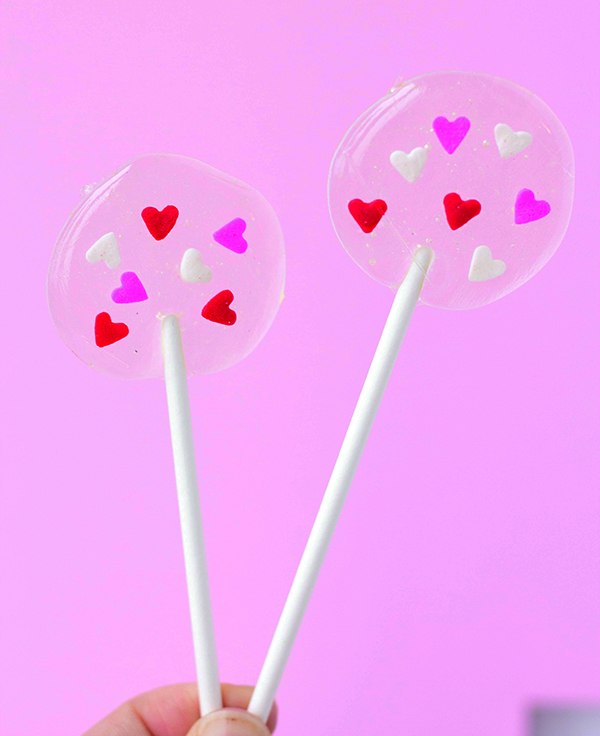 valentine's day lollipops