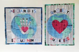 earth day craft - posters