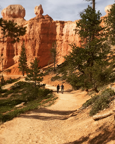 Hiking in Bryce Canyon.