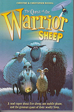 Book cover- Quest of the warrior sheep.