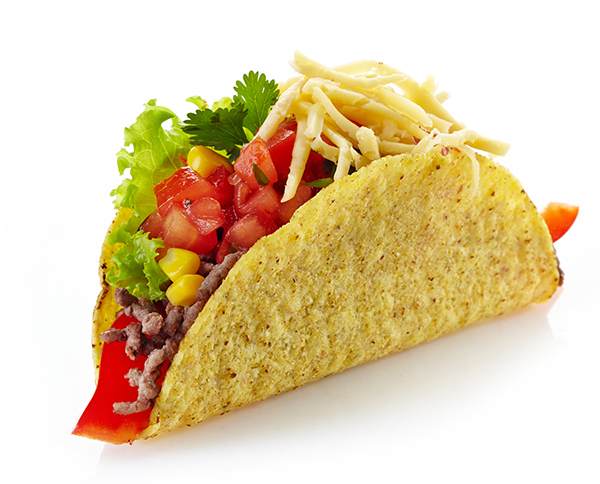 How hard is it to put together a taco for lunch?