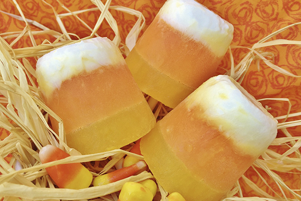 Candy Corn cupsickles, treats that can be made by you.
