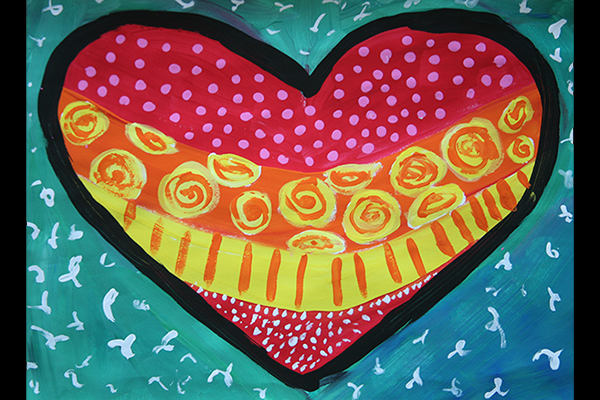 pop art heart art 2