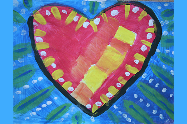 pop art heart art 3