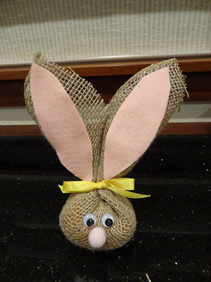 burlap bunnies-stage 4