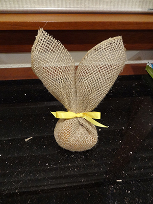 burlap bunnies-stage 3