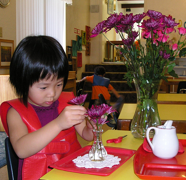 A young lady enjoys herself at Montessori Child Development Center.