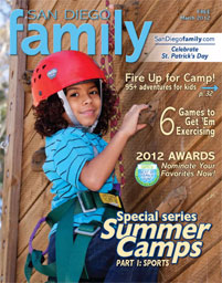 March 2012 issue: San Diego Family Magazine