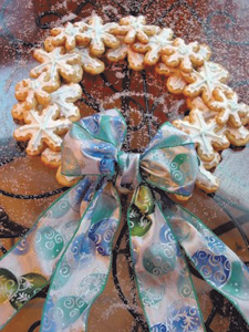 Sparkling Snowflake Sugar Cookie Wreath