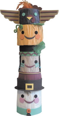 Thanksgiving Totem Pole Centerpiece