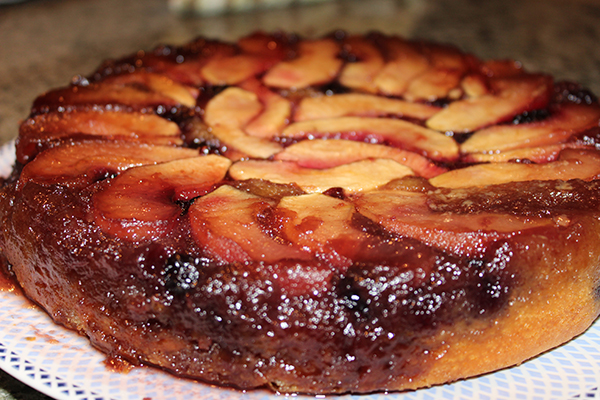 Apple Blackberry Upside-Down Cake