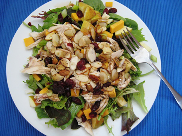 Harvest Salad with Chicken, Apples and Cheddar
