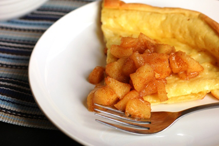 Oven Pancake with Cinnamon Apples by Jessica at Good Cheap Eats