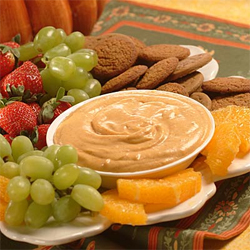 This Pumpkin Dip also makes a yummy spread for muffins, toast or mini bagels.