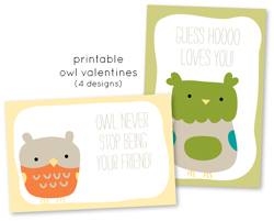Adorable Free Printable Valentine's Cards from Wild Olive