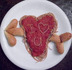 Valentine's Spaghetti from Kitchen Fun with My Three Sons