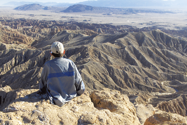 Visit Font's Point for a stunning view during your trip to Borrego Springs in San Diego County.