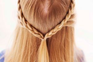 How to Make a Valentines Day Braid for your Daughter