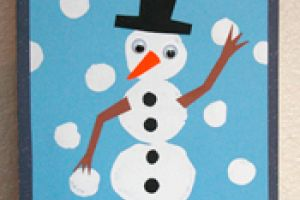Marshmallow Snowman Card