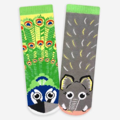 pals socks peacock elephant main 400x400