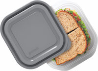 10842 Good Cook EveryWare 5 Pack 2.9 Cup Square Gray Lid FLAT copy