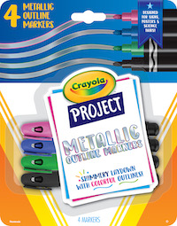 58 8357 0 300 Project SP20 Metallic Outline Markers 4ct F R