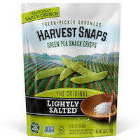 Harvest Snaps Green Pea Snack Crisps Lightly Salted 3.3oz Front