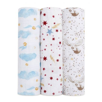 aswc30001hp 0 classic swaddle 3pk harry potter min 1