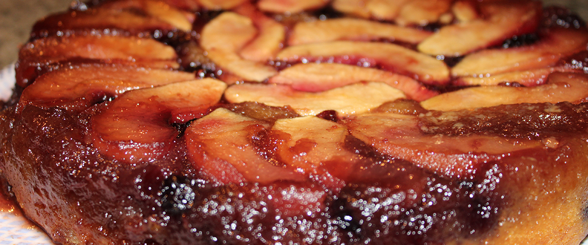 Apple-Blackberry Upside Down Cake