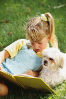 dogs and children reading sm