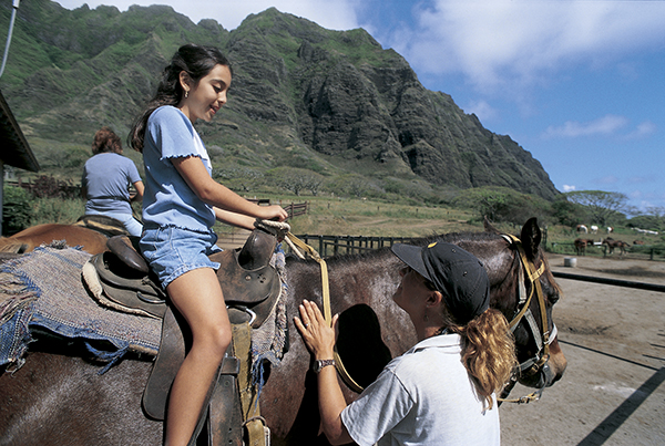 Kualoa Ranch is where scenes from movies like Jurassic park were filmed.