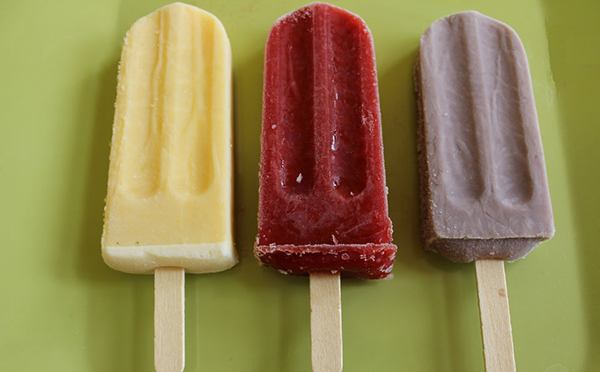 viva pops is a yummy way to cool off on a hot summer day.
