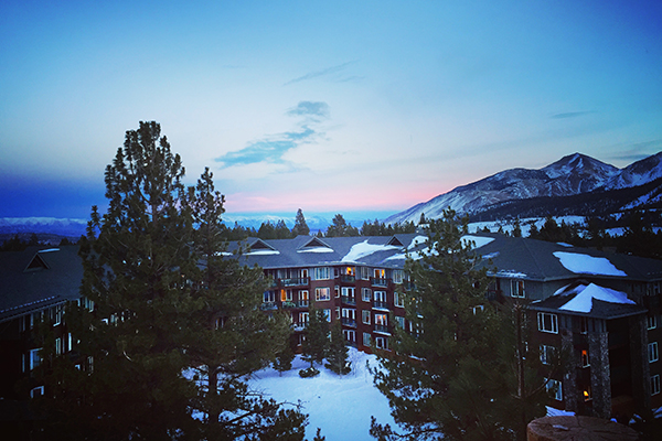 Sunset at Mammoth mountain resort.