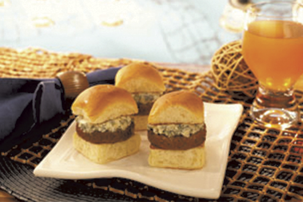 Make these blue cheese sliders for father's day.