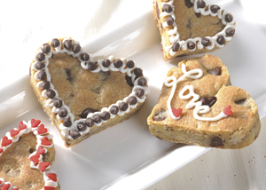 Chocolate Chip Cookie Hearts