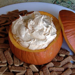 Pumpkin Fluff is great for dipping graham crackers, ginger snaps, or sliced fruit.
